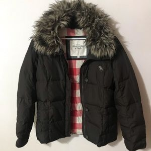 Abercrombie and Fitch brown puffy jacket w/ zip